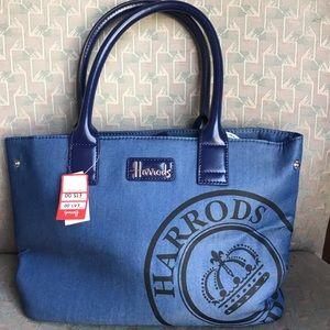 NWT! Harrods blue handbag